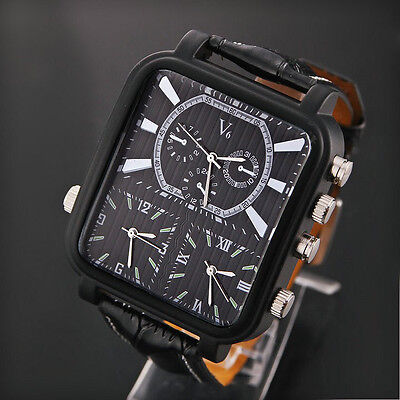 V6 Classic Mens Quartz Analog Multiple Time Zone Stainless Steel Wrist Watch
