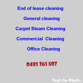 End of lease cleaning with carpet steam cleaning