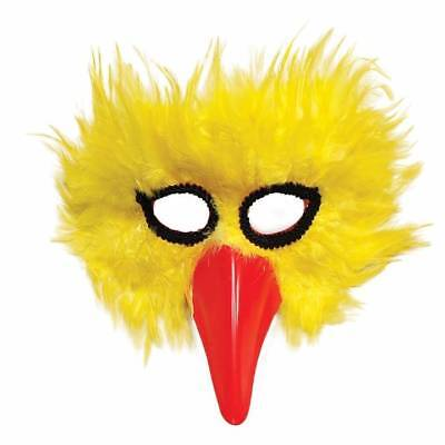 Yellow Big Bird Mask Red Beak Masquerade Adult Fancy Dress Chicken