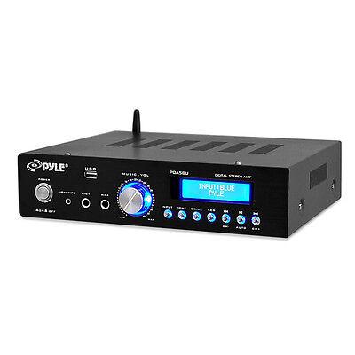 PYLE PDA5BU Pyle BT Stereo Amplifier Reciever AM/FM Radio USB Flash Reader 3....
