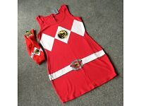 Halloween Hottie Mighty Morphin Power Rangers Outfit (NEW)