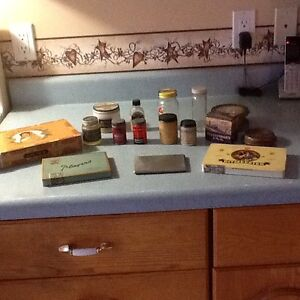 Assortment of Tins and Bottles