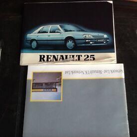 RENAULT 25 ORIGANAL OWNERS MANUAL PACK