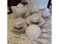 Oriental eggshell tea set
