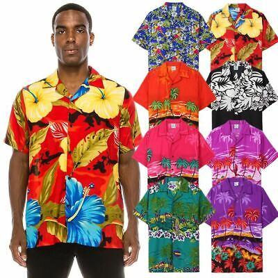 Men's Graphic Print Hawaiian Shirts (8 Colors)
