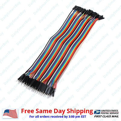 40pcs 20cm 2.54mm Male To Female For Dupont Wire Jump Jumper Cables For Arduino