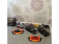 Diecast cars and motorcycles