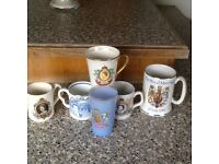 Selection of Royal drinking cups