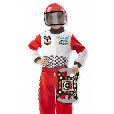 Melissa & Doug Racing Car Driver Dress Up Fancy Dress Costume Age 3-6