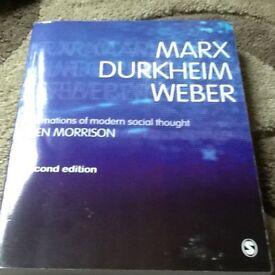 Marx Durkheim Weber