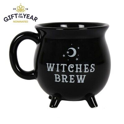 Brew Mug (Witches Brew Cauldron mug Black Mug 10cm Tea Coffee Cup)