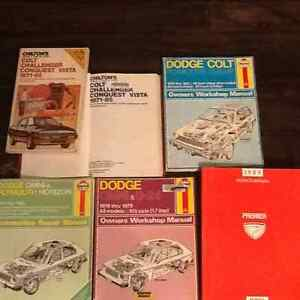 Dodge, Colt, omni, premier, vista, challenger,  car shop manual