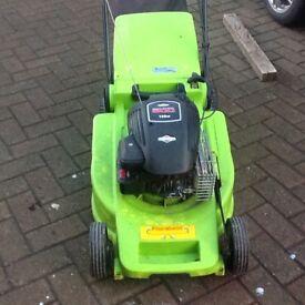"Flora best 18"" cut petrol self propelled lawnmower good condition."