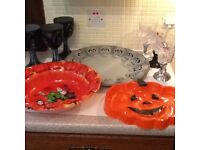 HALLOWEEN PARTY PLATE, BOWLS AND GOBLETS