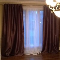 Curtains and rods for sale