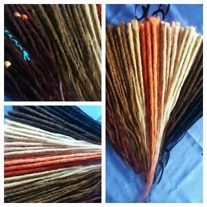 Echthaar Dreads Dread Dreadlocks Extensions Human Hair handmade