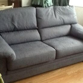 Blue small 3 seater sofa modern style