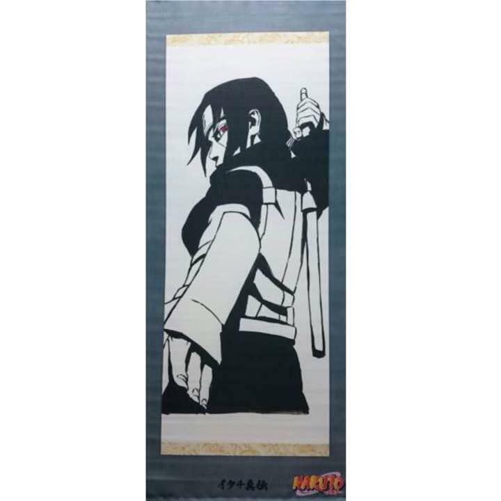 JUMP j BOOKS NARUTO Original Wall Scroll Itachi Uchiha Unused Rare From JAPAN
