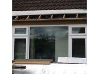 White Upvc window 2.58m (w) x 1.56m (h)
