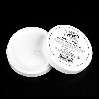 MEHRON CLOWN WHITE PROFESSIONAL STAGE FACE BODY CREAM MAKEUP PAINT MIME 2.25OZ - White Clown Paint