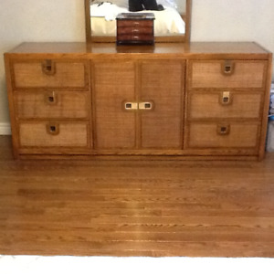 6 piece solid oak bedroom set