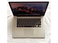 MacBook Pro 15 inch i7 Quad Core Retina 2013 As New Condition 2 Years Warranty 256ssd 8gb ram