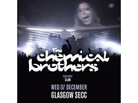One standing ticket for chemical brothers, Glasgow, 7th December at SSE Hydro. FOR SALE £35.