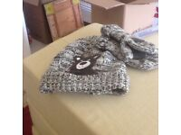 Boys hat with mat icing mittens