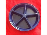 3 Large Plastic Picnic Snack/Nibble Trays VGC £4