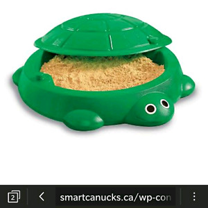 Mr Turtle Sandbox with sand and toys