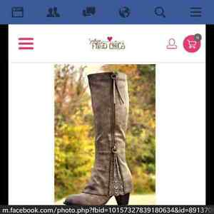 NEW boots (Southern Fried Chics)- delivered today Windsor Region Ontario image 1