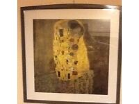 Gustav Klimt The Kiss replica IKEA picture and frame
