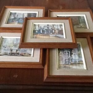 Set of Five Framed Wholesome - Style Pictures by Tricia Romance