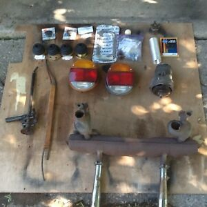 Assortment of parts for VW Beetle.