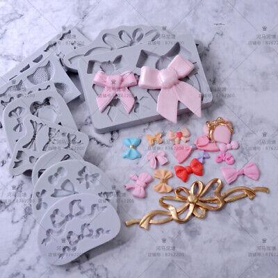 Silicone Butterfly Bow Fondant Mold Cake Decor Chocolate Sugarcraft Baking Mould - Fondant Bow