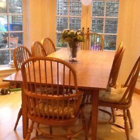 Batheaston Farmhouse Oak Dining Table And Chairs