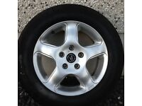 15INCH 5/112 VW WOLFRACE ALLOY WHEELS WITH TYRES FIT AUDI SEAT SKODA ETC