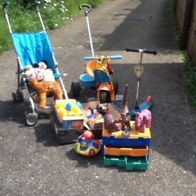 A selection of various children's out door & indoor toys