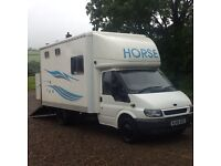 Horse Box 3.5 Ton Ford Transit Luton with living