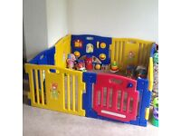 Extra large playpen ideal for twins. Excellent condition