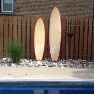 Surf boards, his and hers new bamboo boards/$360 for both firm