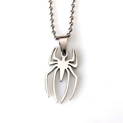 Spiderman Stainless Steel Charm Pendant Necklace Jewelry Birthday Party Gift-S54](Spiderman Jewelry)