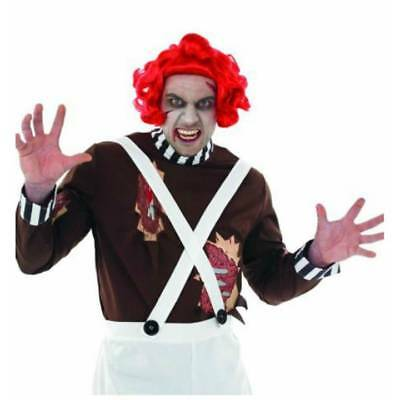 Adult Zombie Factory Worker & WIG Oompa Loompa Halloween Fancy Dress (Oompa Loompa Halloween Kostüm)