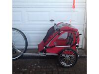 Halfords single bike(buggy trailer) Excellent condition