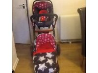 Cassotto Giggle 3 in 1 Travel System inc Matching Bag vgc