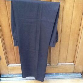 Brown pinstripe men's trousers
