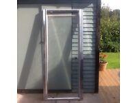 Shower door in silver 800mm width.