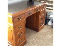 Writing desk solid wood