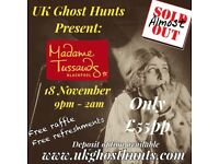 Ghost hunt at madame tussaurds in blackpool