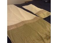 Quality Single Duvet Set, Cream Valance and Matching Curtains